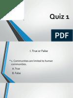 Quiz 1- Community