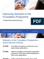 Improving Selection to the Foundation Programme_Will