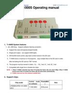 T 1000S SD Card Program Manual
