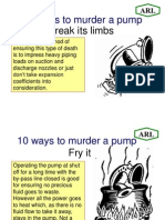 10 Ways to Murder a PUMP