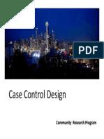 Case Control Design Study