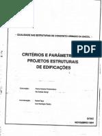Encol - Critérios e Parâmetros de Projetos Estruturais de Edifícios