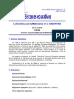 Sistema argentino de la educacion matematica