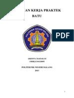 Laporan Kerja Praktek Batu Politeknik Negeri Malang
