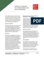 DPA Status Report Colorado Marijuana Regulation