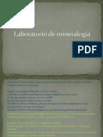 Laboratorio de Mineralogia