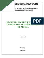 Evolutia Politicii Europene in Domeniul Ocuparii Fortei de Munca