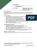 Database Administrator Manager