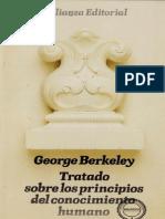 Berkeley - Tratado Sobre Los Principios Del Conocimiento Humano