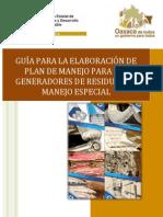 Guía Para La Elaboración de Plan de Manejo Para Los Generadores de Rme