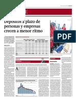 Depósitos a Plazo de Personas y Empresas Crecen a Menor Ritmo_Gestión 24-06-2014