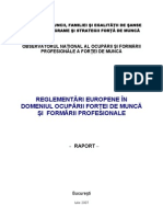 Reglementari Europene in Domeniul Ocuparii Fortei de Munca Si Formarii Profesionale