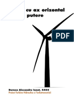 Turbine cu ax orizontal de mica putere