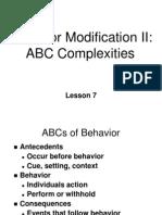 ~L07 behavior modification II