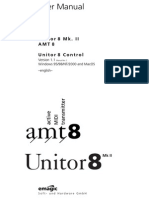 Emagic Unitor8 MkII Amt8 Manual