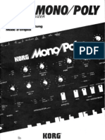 Korg MonoPoly OwnersManual