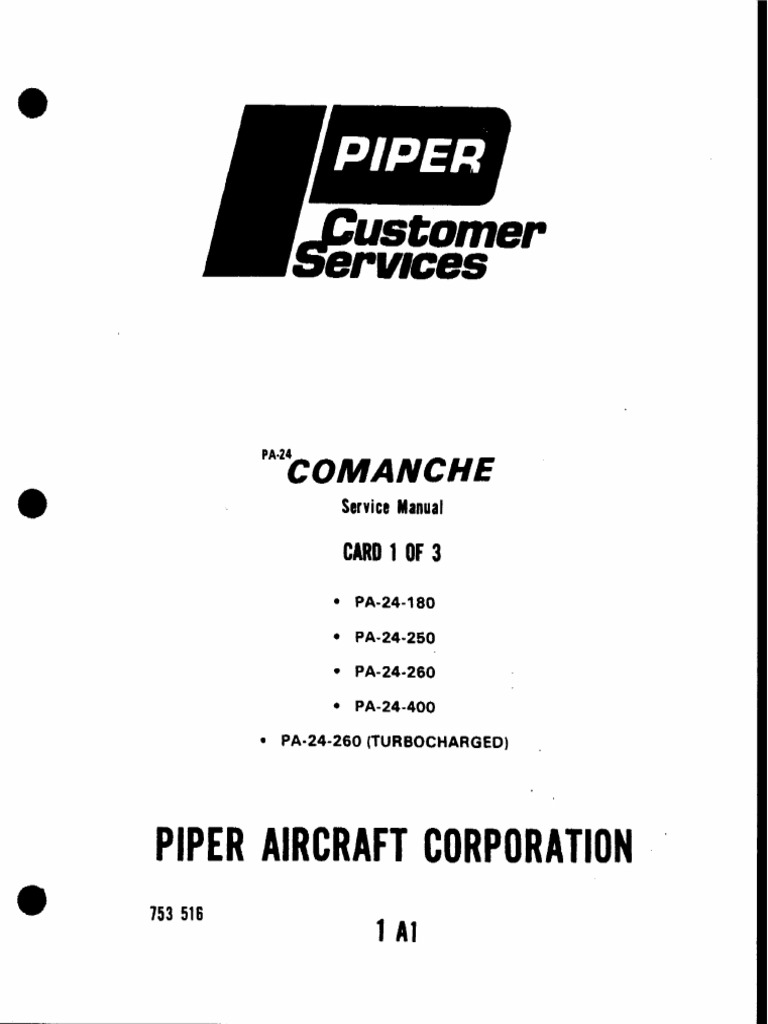 Services: Piper Aircraft Corporation