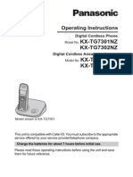 Kx Tg732120operating Instructions