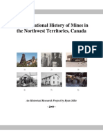 The Operational History of Mines in the Northwest Territories, Canada