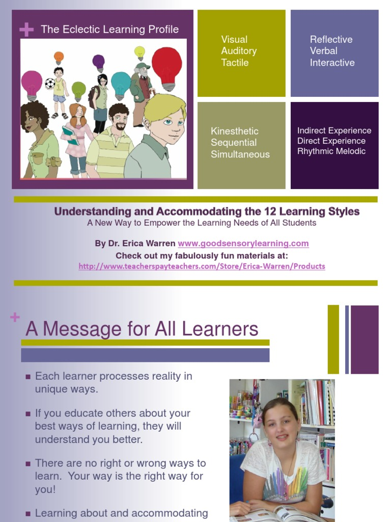 Accommodating all learners