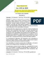 Ley 1383 de 2010 Codigo Transporte
