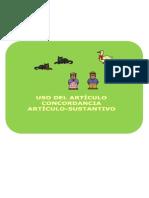 Fichas Concordancia Articulo Sustantivo