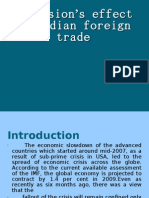 Recession's effect on indian foreign trade