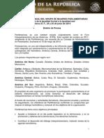 24-06-14 BOLETIN - VI ENCUENTRO ANUAL DEL GRUPO DE MUJERES PARLAMENTARIAS