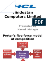 Hindustan Computers Limited five force model