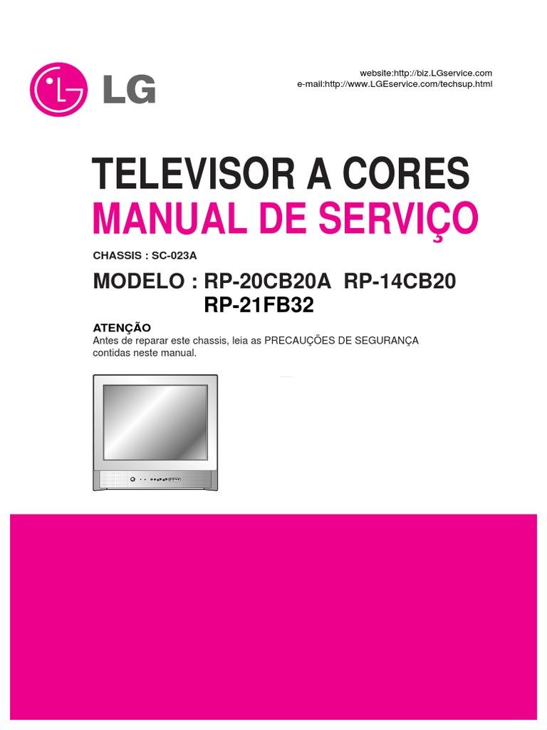 Manual De Serviciotv Lg Chasis Sc