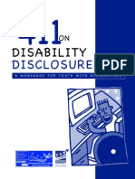 411 disability disclosure complete