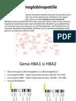 Hemoglobinopatiile