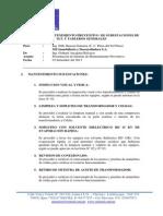 Informe Mantenimiento en m.t. de Cc Plaza Del Sol Piura