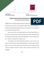 frederick symphony orchestra press release