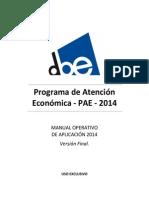 Manual Pae de Trabajo Asistentes Sociales Universidad de Chile 2014