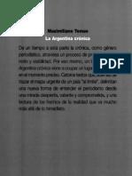 Tomás, M. - La Argentina Crónica - Índice