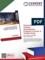 School Based Teacher development program in Kenya