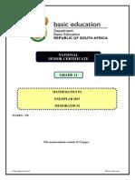 Mathematics P1 Grade 11 Exemplar 2013 Eng Memo