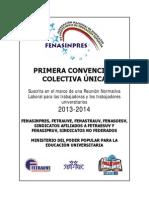 Convencion Colectiva Unica Trabajadores Universitarios 2013-2014