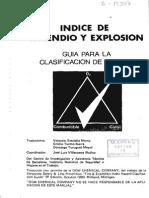Indice de Incendios y Explocion