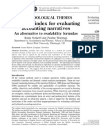 Texture index for evaluating accounting narratives
