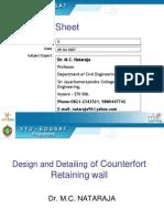Retaining Counterfort Wall Design Bending Deep Foundation