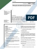 C NBR 11240 - Utilização de Defensas Portuárias