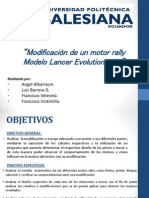 Modificación de Un Motor Rally Modelo Lancer