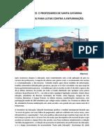 Estudantes Secundaristas de Santa Catarina Saem Às Ruas Para Lutar Contra a Enturmação