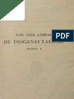 Los 10 Libros de Diogenes Laercio