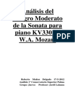 Análisis Del Allegro Mozart