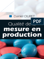 Livre Qualite de La Mesure en Production