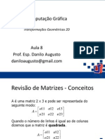 08 - CG - Transformações Geométricas 2D