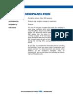 5 Facilitator Observation Form